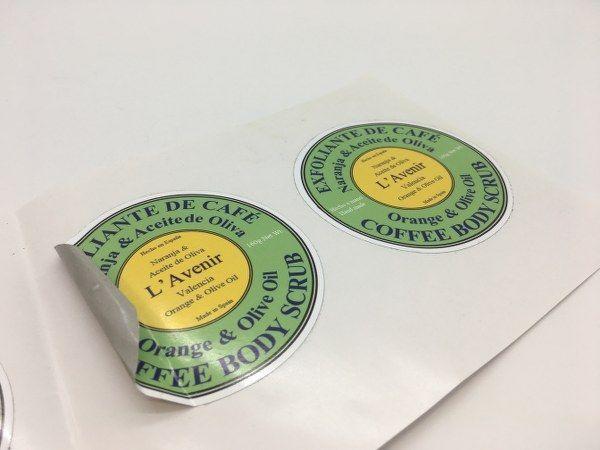Etiquetas circulares para exfoliantes